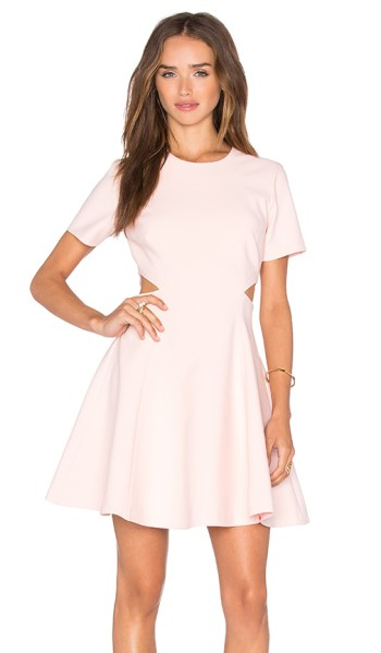 Elizabeth and James Leonie Cutout Fit and Flare Dress Cherry Blossom fit and flare dresses kentucky derby