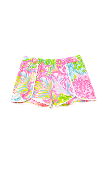 Lilly Pulitzer GIRLS CHELA SHORT Multi More Lovers Coral lilly pulitzer mother daughter matching outfits for mom mother's day