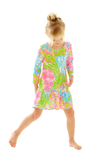 Lilly Pulitzer GIRLS RICCA DRESS Multi More Lovers Coral lilly pulitzer mother daughter matching dresses outfits