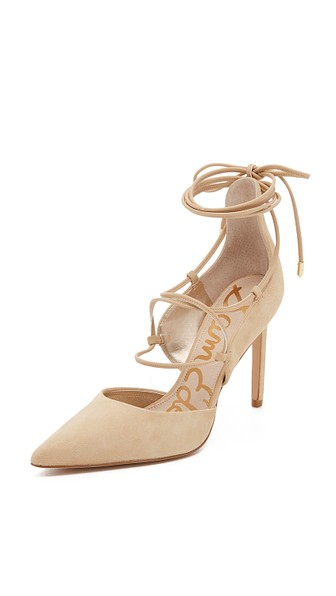Sam Edelman Dayna Lace Up Pumps Nude Shopbop friends and family sale