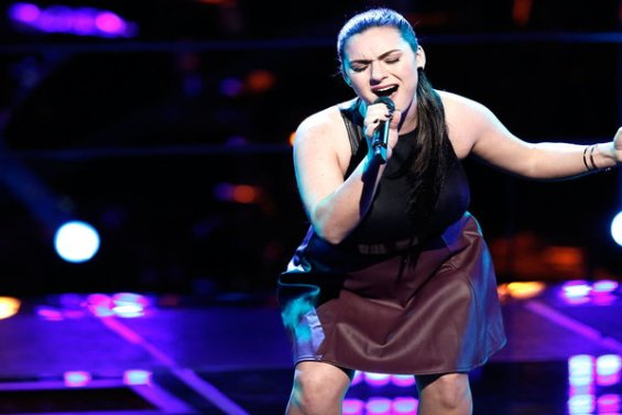 """Watch The Voice Season 10 Episode 12 The Knockouts Night Three: See Abby Celso of Team Pharrell Williams perform Hall and Oates hit song """"Rich Girl"""" for the judges!"""