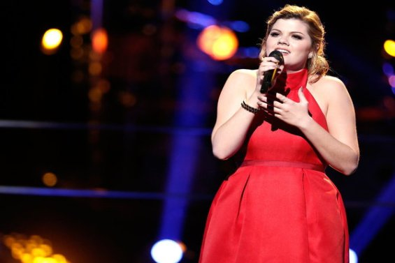 """Watch The Voice Season 10 Episode 12 The Knockouts Night Three: See Caity Peters of Team Pharrell Williams sing Sam Smith's hit song """"Leave Your Lover"""" on Monday, April 4th, 2016."""