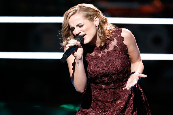 """Watch The Voice Season 10 The Knockouts Night Three: Watch Mary Sarah of Team Blake perform country legend Loretta Lynn's classic song """"You Ain't Woman Enough to Take My Man."""""""