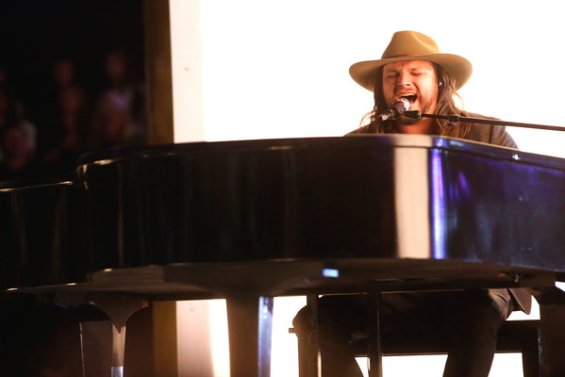 """Watch The Voice Season 10 Live Finale, Part 1 Episode 27: See country singer Adam Wakefield of Team Blake Shelton sing Vince Gill's hit song """"When I Call Your Name"""" beautifully."""