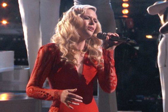 """Watch The Voice Season 10 Live Finale, Part 1 Episode 27: See Season Hannah Huston of Team Pharrell Williams sing """"The Police's classic hit song """"Every Breath You Take"""" on Monday, May 23, 2016."""