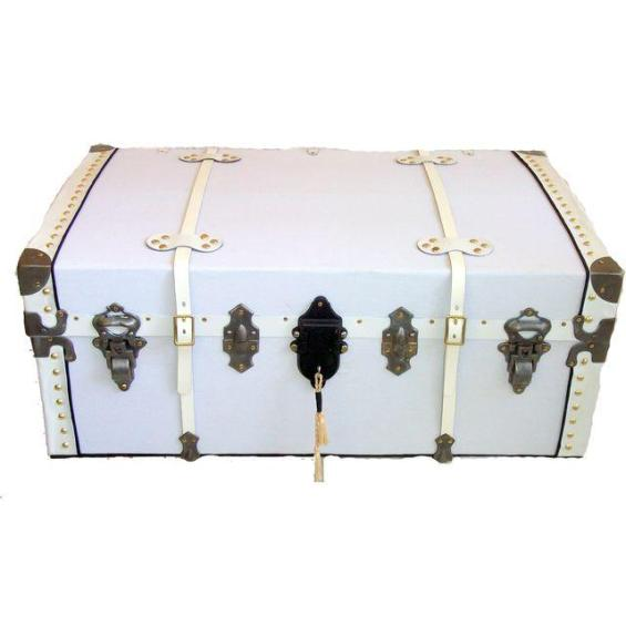 1890 White Steamer Trunk Chairish this is emily & meritt collection