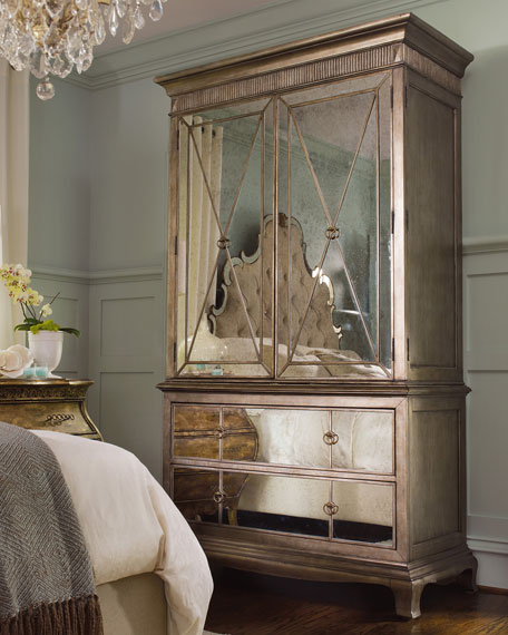 Hooker Furniture Bristol Mirrored Armoire Horchow friends and family sale