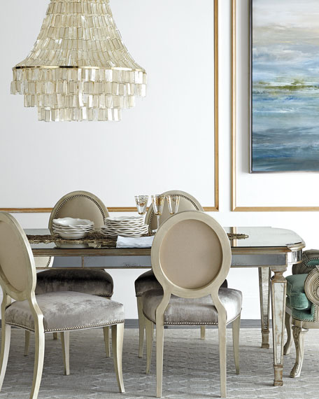 """John-Richard Collection Eliza 96""""L Antiqued Mirrored Dining Table Horchow Friends and Family Sale"""