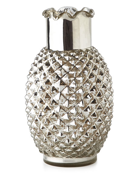 Pineapple Mercury-Glass Vase Horchow Friends and Family Sale