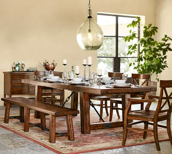 Pottery Barn BENCHWRIGHT EXTENDING DINING TABLE pottery barn dining furniture sale 20%
