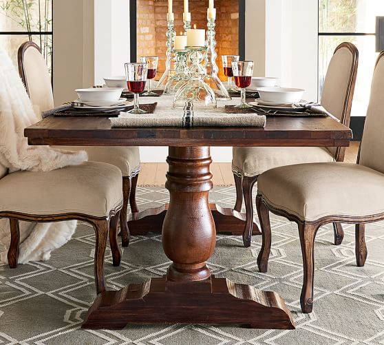 Pottery Barn BOWRY RECLAIMED WOOD FIXED DINING TABLE Eco-Friendly pottery barn dining furniture sale