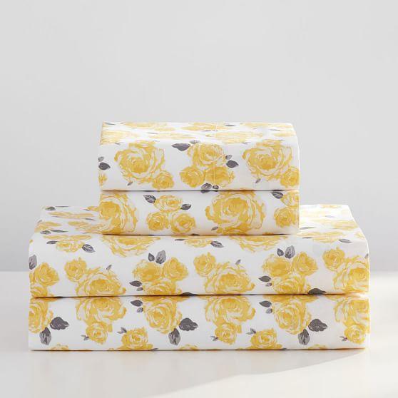 The Emily & Meritt Marigold Rose Sheet Set PB Teen emily & meritt for pottery barn teen collection