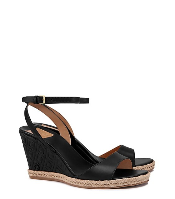 tory burch private sale Tory Burch MARION QUILTED ESPADRILLE WEDGE SANDAL candie anderson