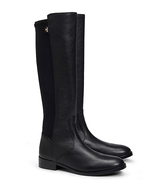 candace rose anderson Tory Burch SELDEN RIDING BOOT Black fashion blog tory burch private sale candie anderson
