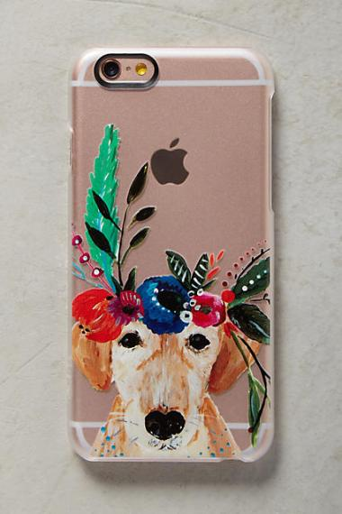Casetify Dog Flower Crown iPhone 6 & 6 Plus Case Green Motif