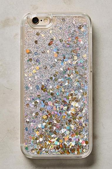Floating Glitter iPhone 6 & 6 Plus Case Silver