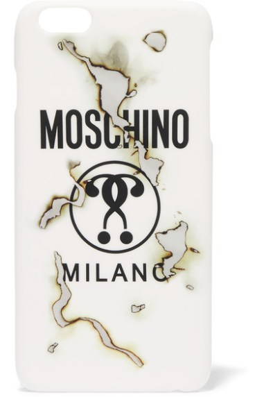 MOSCHINO Printed acrylic iPhone 6 Plus case
