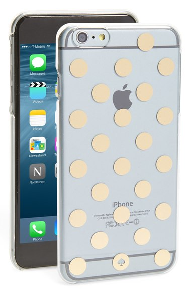 kate spade new york 'le pavilion' polka dot iPhone 6 Plus & 6s Plus case clear gold iPhone 6s plus cases