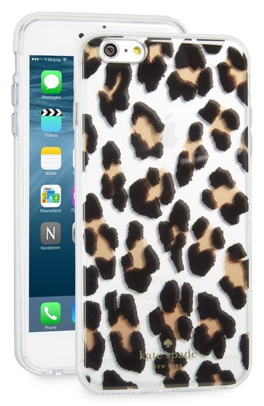 kate spade new york leopard print iPhone 6 Plus & 6s Plus case clear multi