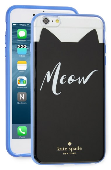 kate spade new york 'meow' iPhone 6 Plus & 6s Plus case clear multi iPhone 6s plus cases fall