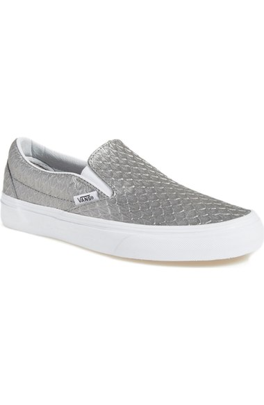 Vans 'Classic' Slip-On Sneaker (Women) New Wild Dove slip-on sneakers fall 2016