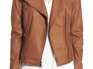 MARC NEW YORK by Andrew Marc 'Felix' Stand Collar Leather Jacket Whiskey Nordstrom black friday sale