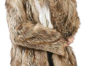 Topshop Kate Faux Fur Coat Brown faux fur coats