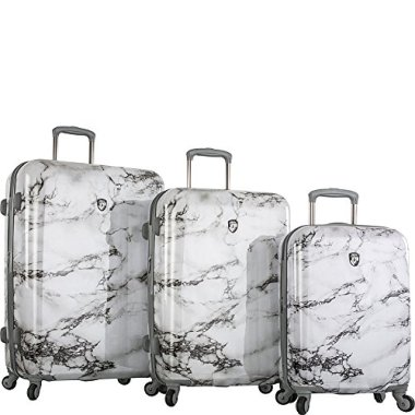 Marble Inspired Suitcases Luggage Tags For Travelers In