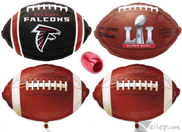 NFL Atlanta Falcons Super Bowl 51 Team Pack 5pc Balloon Pack, Red Black White