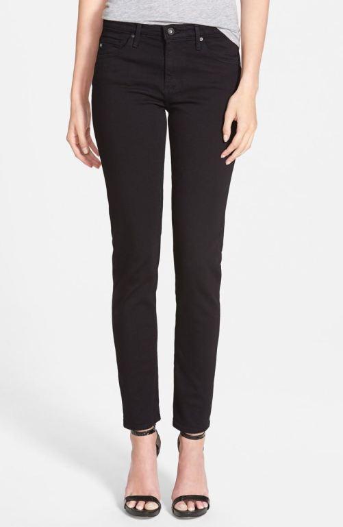 AG 'Prima' Mid Rise Cigarette Jeans (Super Black) Nordstrom winter sale