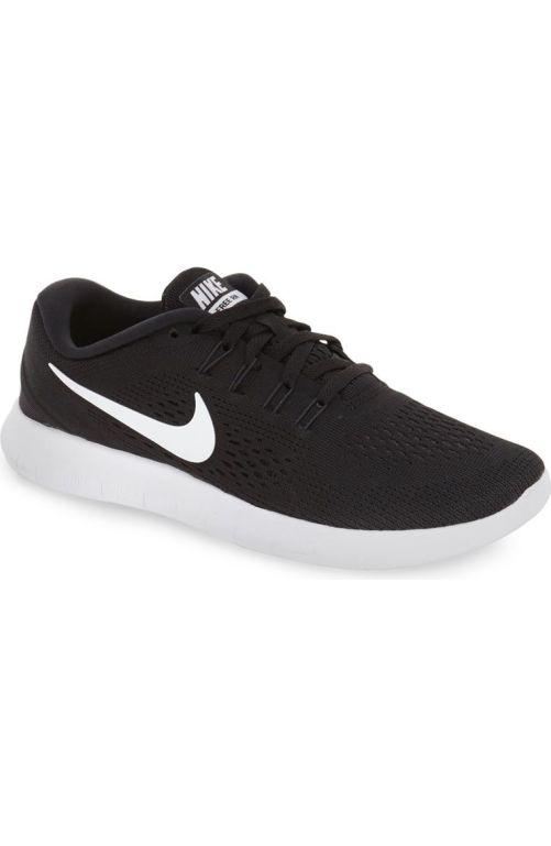 Nike Free RN Running Shoe (Women) Black White Anthracite 2017  Nordstrom  winter sale