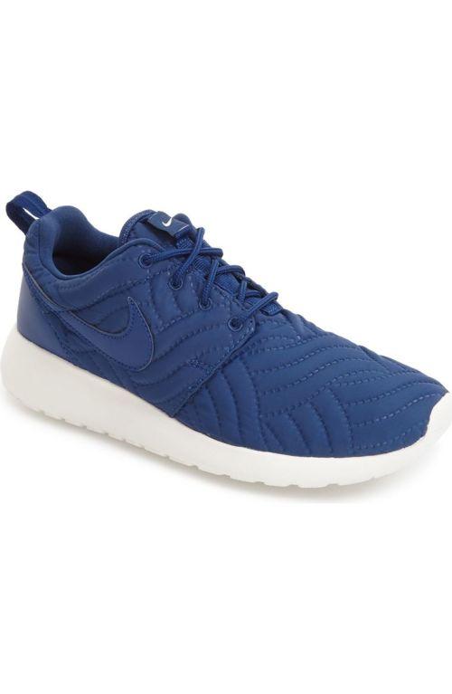 Nike 'Roshe Run' Print Sneaker (Women) Coastal Blue Ivory Nordstrom winter sale