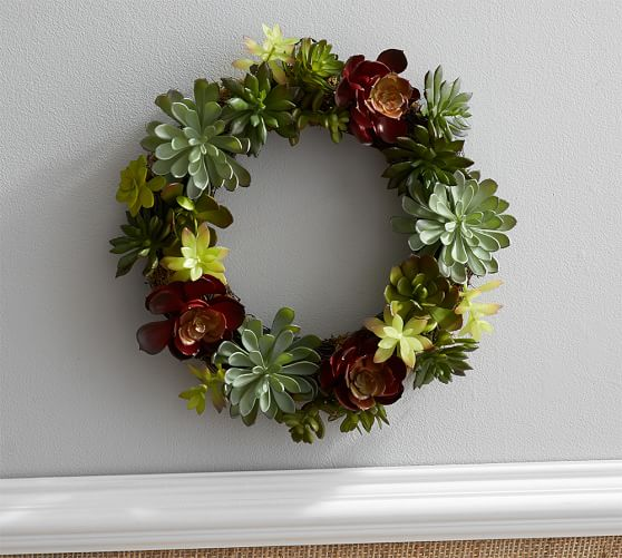 Pottery Barn FAUX SUCCULENT WREATH pottery barn friends and family sale