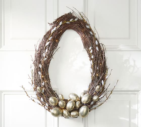 Pottery Barn LIT EGG WREATH pottery barn friends and family sale