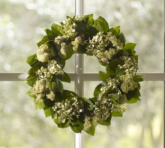 Pottery Barn LIVE WILLOW & HYDRANGEA WREATH pottery barn friends and family sale