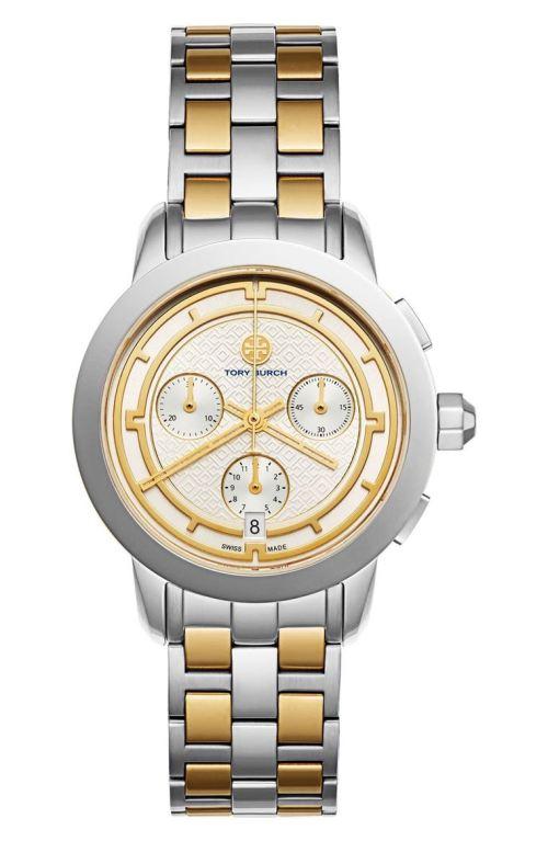 Tory Burch Classic Bracelet Watch, 37mm Silver Gold 2017 Nordstrom winter sale