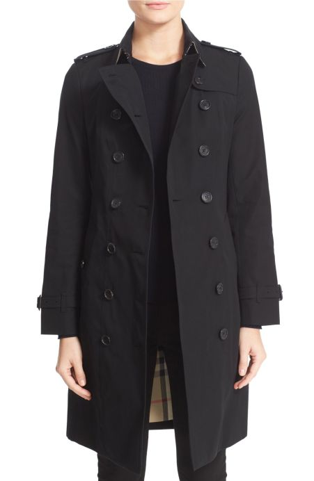 Burberry Sandringham Long Slim Trench Coat Black top trench coats spring 2017