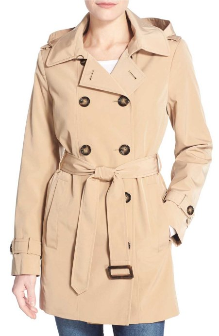 Calvin Klein Double Breasted Trench Coat Khaki trench coats spring 2017