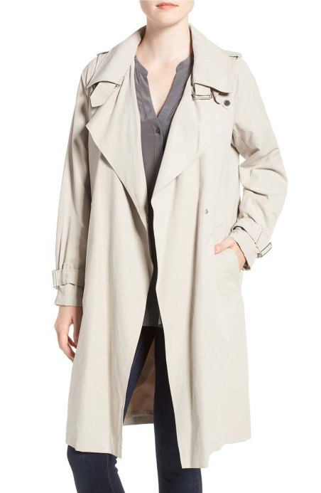 French Connection Drape Front Trench Coat African Stone trench coats spring 2017