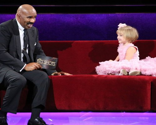 """Watch Little Big Shots Season 2 Episode 2 """"Little Barber Shop"""" Videos, Sunday, March 12, 2017. See adorable four year old, Ansleigh Clark of Saint Augustine, Florida chat with Steve Harvey and her parents about the haircut (mullet) she gave herself. The YouTube video of her """"activity"""" with scissors generated over 14 million views. In the video below the future hairdresser """"cut"""" Steve's hair. PS: Wasn't her pink tutu dress cute?! Here are a few similar tutu dresses for your little girl."""