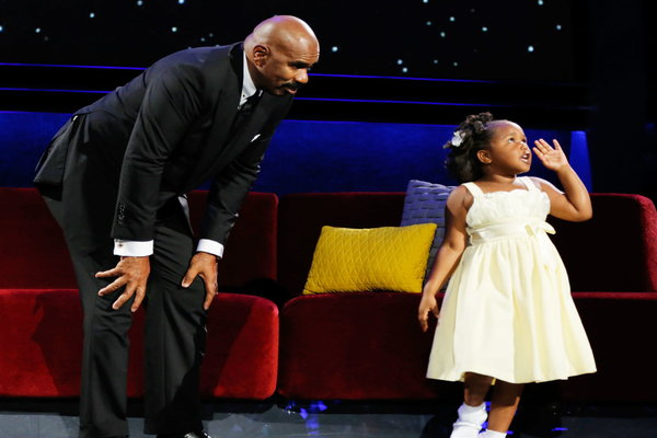 "Watch Little Big Shots Season 2 Episode 3 ""New Sheriff In Town"" Videos, Sunday, March 19, 2017. See adorable five year old Natalie Green of Winnsboro, South Carolina talk to Steve Harvey about her billion view viral video! She loves the Lord and is just the cutest little girl. Rapper Kanye West sampled her on ""Ultralight Beam"". Little Natalie told Steve she was going to pray for him to stop cussing. ;) You have to watch the video to see her talk about her mom and sisters, and see her teach Steve how to pray."