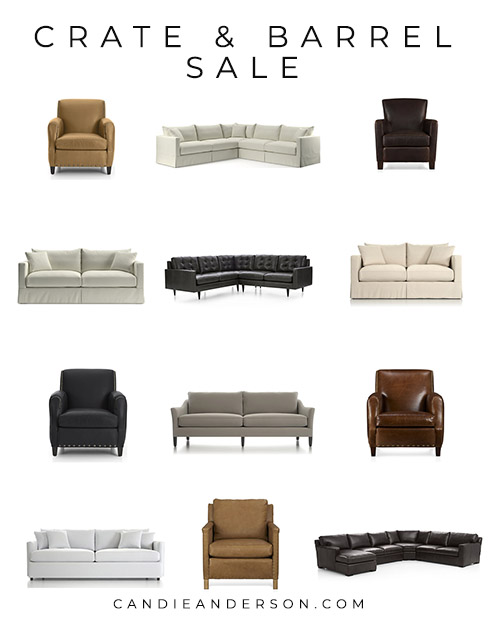 crate and barrel annual upholstery sale