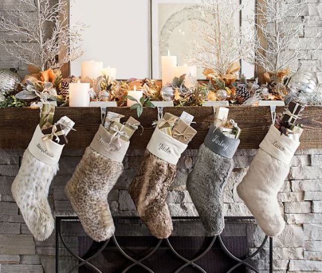 Pottery Barn Faux Fur Stockings Pottery Barn Christmas Stockings And Tree Skirts Sale