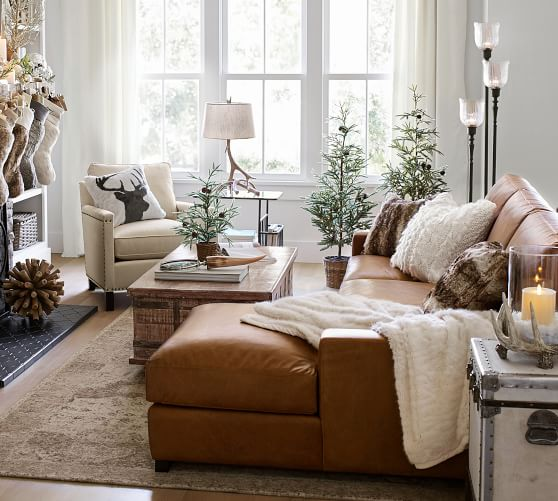 pottery barn chaise sofa sectional holly flexsteel 2017 thanksgiving sale save 20 furniture home decor turner square arm leather with