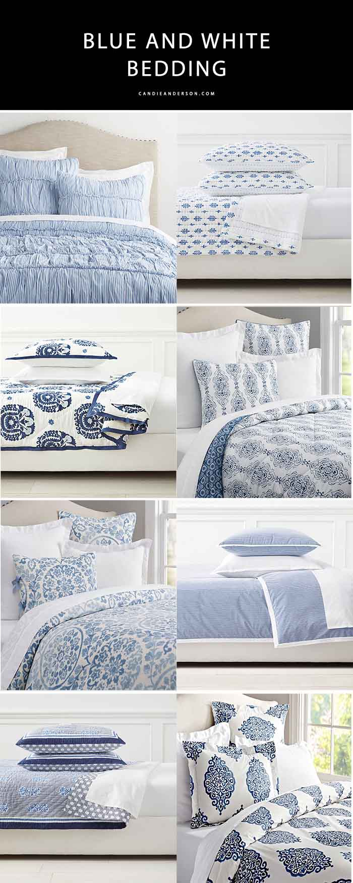 20 Trendy Blue And White Bedding Essentials For Spring Candie Anderson