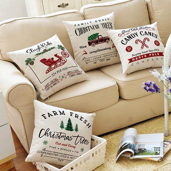 best farmhouse holiday throw pillows