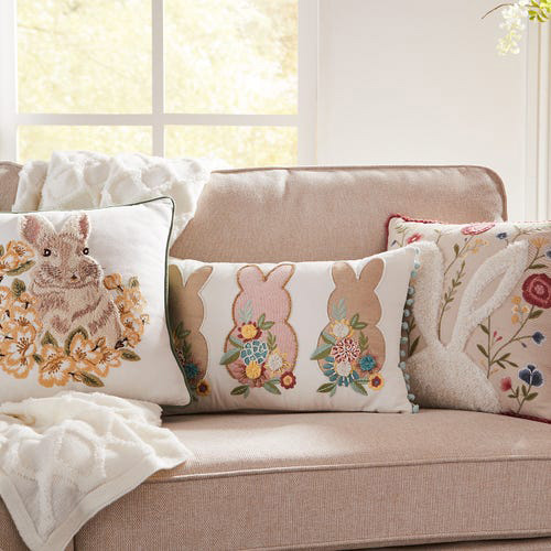 20 trendy easter throw pillows in a