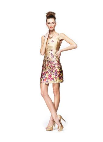 Sleeveless Low-V Sheath Dress by Ronnie Escalante Macy's Multicolored