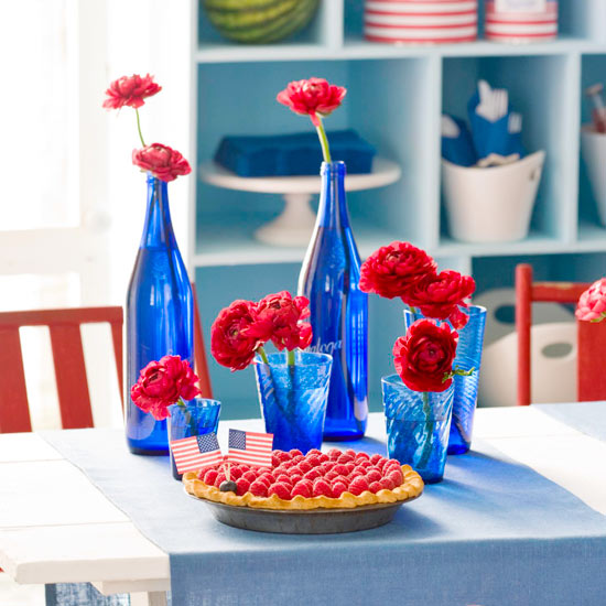 Last Minute DIY Red, White And Blue Labor Day Decor Ideas