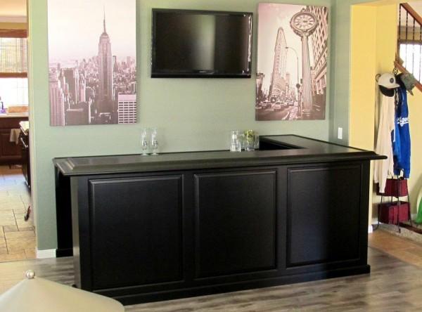 Maple cabinet home bar Espresso stain Corona Calif  C